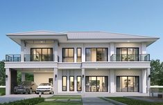 Minimal House Design, Best Modern House Design, Classic House Design, Modern Exterior House Designs, Modern House Floor Plans, Modern House Facades, Contemporary House Plans, 2 Storey House Design, Bungalow House Design