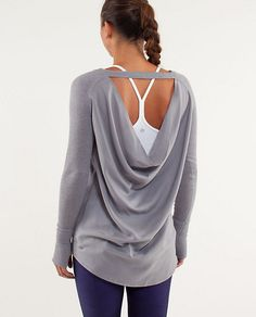Lululemon Unity Pullover. Want it... so comfy and elegant at the same time! I love stuff with beautiful back lines!