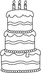 Black and White Big Birthday Cake Clip Art - Black and White Big Birthday Cake Image Birthday Cake Clip Art, Big Birthday Cake, School Birthday, Birthday Board, Birthday Crafts, Birthday Coloring Pages, Coloring Book Pages, Coloring Pages For Kids, Coloring Sheets