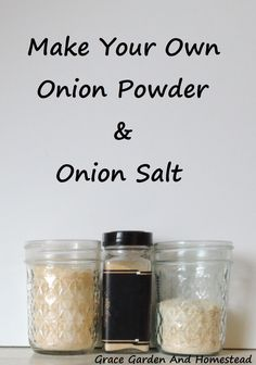 If you can grow an onion, you can make these two seasonings for your kitchen spice rack. Its super easy! Homemade Spices, Homemade Seasonings, Spice Blends, Spice Mixes, Kitchen Spice Racks, Sauces, Homemade Biscuits, Spices And Herbs, Dehydrated Food