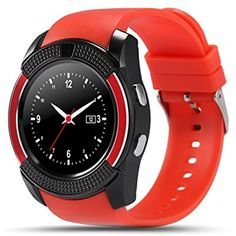 Bluetooth Smart Watch,Gentman V8 Round Watch with Camera Sleep Monitor Sports Business Bracelet for Android iOS Support TF SIM Card ** Read more reviews of the product by visiting the link on the image. (This is an affiliate link) #ClipsArmWristbands