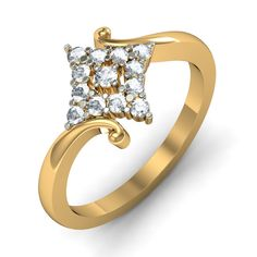 http://www.bluestone.com/rings/the-princess-ring~591.html  An elaborately carved base cradling a lovely diamond shaped arrangement of glittering stones, the distinctive characteristic of this ring is its elegantly sculpted base. Made for a woman who appriciates the essence of detailing.