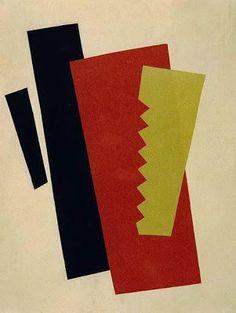 Liubov Popova, Composition (Red-Black-Gold), 1920