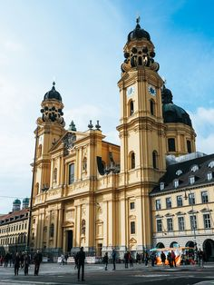 Wow what a building. This one you can find on Odeonsplatz in Munich - Theatinerkirche. Germany Area, Bavaria Germany, Munich Germany, Places To Travel, Places To See, Places Ive Been, Travel Stuff, Frankfurt, German Architecture