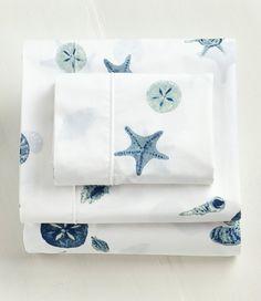 Seashell Percale Sheet Set