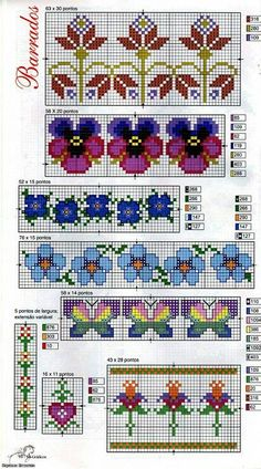 Borders - Good for bead weaving with delica beads: