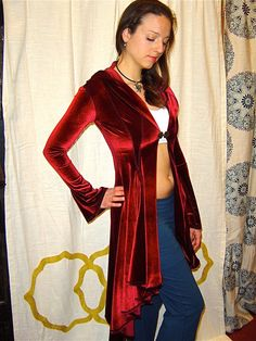 The Diana Long Fitted Stretch Jacket Hooded by AccentuatesClothing