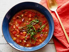 Gazpacho recipe from Alton Brown via Food Network