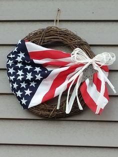 Patriotic grape vine wreath