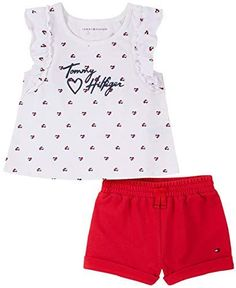 Newborn Girl Outfits, Toddler Girl Outfits, Kids Outfits, Tommy Hilfiger Store, Tommy Hilfiger Baby, Bermuda Shorts Outfit, Athleisure Outfits, Short Outfits, Outfit Sets