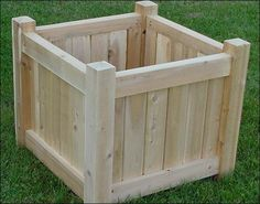 how to build a wood planter