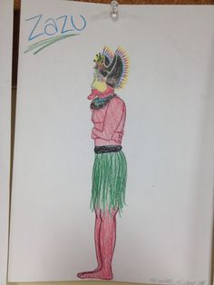 Costume design for Zazu in New Guinean Lion King
