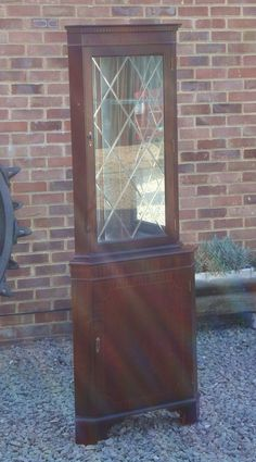 Beautiful Mahogany Type Display Corner Cabinet Listing in the Furniture,Dining Room,Home & Garden Category on eBid United Kingdom