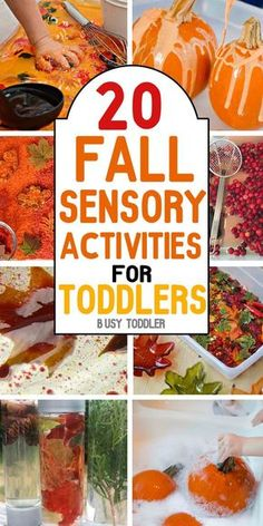 AWESOME FALL ACTIVITIES: Your toddler will love all of these simple activities! Celebrate fall with art/craft activities, sensory based learning and other simple activities for toddlers; you will love that this list is broken up into sections: art, se Fall Activities For Toddlers, Fall Preschool, Infant Activities, Classroom Activities, Preschool Activities, Fall Art For Toddlers, Kids Crafts, Fall Crafts For Toddlers, Halloween Activities