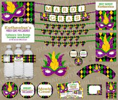 Mardi Gras Masquerade Party Package  Decorations  by thatpartygirl, $29.99