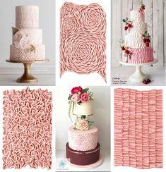 Marvelous Molds Ruffles - Evil Cake Genius Camo Wedding Cakes, Fondant Wedding Cakes, Wedding Cake Designs, Fondant Ruffles, Ruffle Cake, Pink Birthday Cakes, Pink Cakes, Girl Birthday, Shoe Cakes