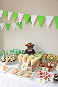 Alison L's Birthday / The Gruffalo! - Photo Gallery at Catch My Party Gruffalo Party, The Gruffalo, Gruffalo Activities, Frozen Birthday Party, 3rd Birthday Parties, 2nd Birthday, Birthday Ideas, Party Food Buffet, Childrens Party