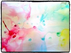 Technique de peinture avec lait, liquide vaiselle et colorant alimentaire, bricolage enfant