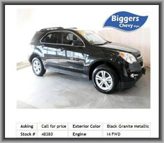2013 Chevrolet Equinox LT SUV  Jet Blackpremium Cloth, Fog Lamps, Navigation From Telematics, Aluminum Wheels, Front Wheel Drive, Power Windows, Leather Wrapped Steering Wheel
