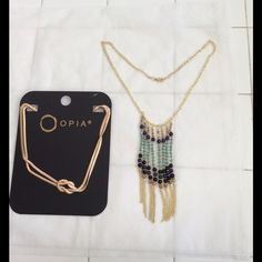 2 golden necklace Bundle up and save Jewelry Necklaces
