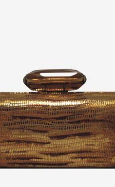 Judith Leiber Bronze Clutch | VAUNTE