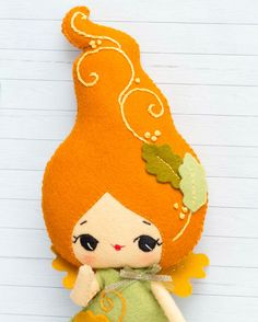 PDF. Autumn fairy doll. Plush Doll Pattern Softie by Noialand