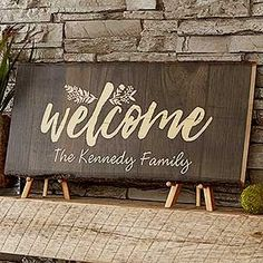 Buy custom home signs with your choice of 6 Cozy Home designs, printed on real basswood planks. Free personalization & fast shipping.