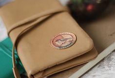 Handmade vintage sweet green stamp tie leather long bifold wallet for   EverHandmade