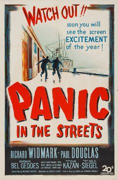 US one sheet for PANIC IN THE STREETS (Elia Kazan, USA, 1950)
