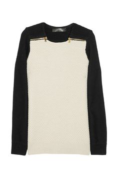 Proenza Schouler: Merino wool and cotton-blend waffle-knit sweater