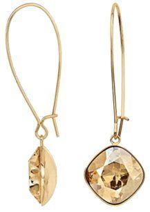 Swarovski Swarovski Thankful Golden Crystal Drop Earrings