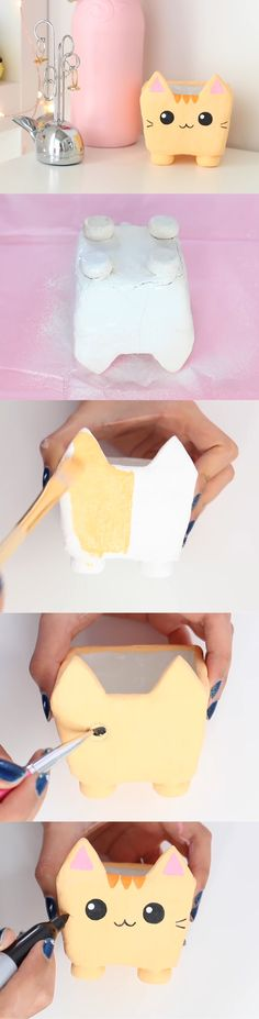 Nim C's clay cat container DIY tutorial part 3. So cute!!!!