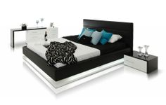 INFINITY CONTEMPORARY PLATFORM BED - Black http://www.homedesignhd.com/collections/modern-beds/products/infinity-contemporary-platform-bed-with-lights
