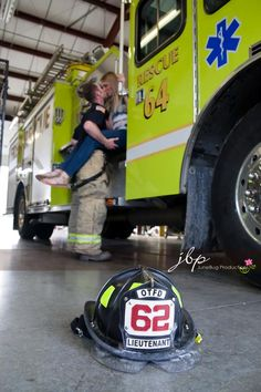 My firehouse engagment photo shoot by JuneBug Productions