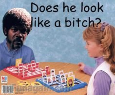 Jules Winnfield playing guess who