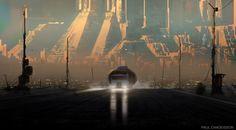 ArtStation - Blade Runner 2049 - 2022: Blackout, Art by Paul Chadeisson.