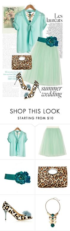 """""""Summer wedding, best-dressed guest!"""" by clothesmonkey ❤ liked on Polyvore featuring Polaroid, D&G, Donald J Pliner and Charlotte Olympia"""