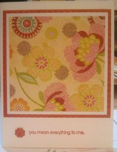 Love card for OWH - these are very CAS, but the K&Co paper is so lovely I didn't want to hide any of it.