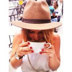 The beautiful co-founder Michelle on a Lyla coffee date Coffee Date, Co Founder, Welcome, Panama Hat, My Love, Image, Beautiful, Fashion, Moda