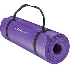 Reehut Extra Thick High Density NBR Exercise Yoga Mat for Pilates, Fitness & Workout w/ Carrying Strap (Purple) – Health and Nutriton Mat Yoga, Yoga Pilates, Pilates Workout, Workout Gear, Muscle Workouts, Gym Gear, Yoga Gym, Toning Workouts, Dumbbell Workout