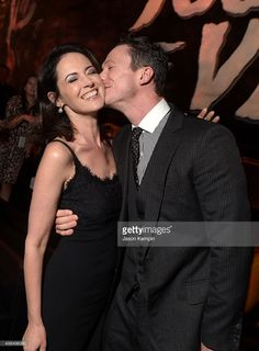 Actors Joanna Going and Jonathan Tucker attend the Premiere Event for DIRECTV's KINGDOM on...