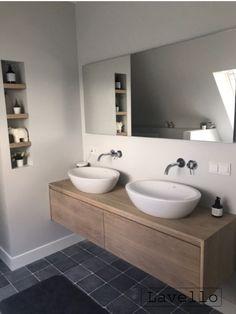 small bathroom storage ideas is entirely important for your home. Whether you pick the bathroom ideas remodel or serene bathroom, you will make the best bathroom remodel wainscotting for your own life. Timber Bathroom Vanities, Loft Bathroom, Eclectic Bathroom, Bathroom Vanity Cabinets, Small Bathroom Storage, Chic Bathrooms, Bathroom Styling, Bathroom Interior Design, Modern Bathroom