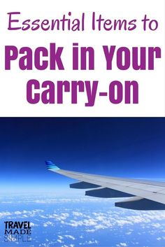 Even though I'm a big believer in carry-on only travel, there are times when checking luggage is necessary. Here's what to pack in your carry-on bag. #packing #packingtips #traveltips #carryontravel