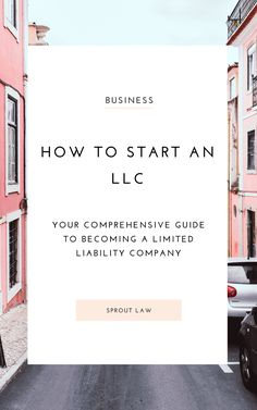 Do you even need an LLC? We're here to spill // Sprout Law -- Llc Business, Business Advice, Craft Business, Business Branding, Business Marketing, Online Business, Small Business Plan, Small Business Accounting, Starting Your Own Business