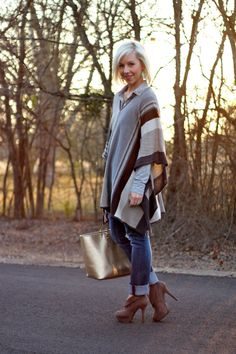 the MRS. & the MOMMA: poncho, CAbi, layers