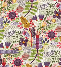Bloom pattern by Helen Dardik #flowers #surface_design