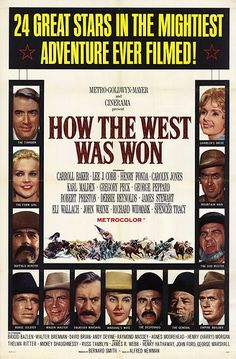 Western Movies - Movie Posters - How the West was Won- The  cave scenes were filmed at Cave- in- Rock, ( Hardin County) Illinois -- A few local people were used as extras.