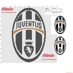 Stemma logo della Juventus schema punto croce gratis