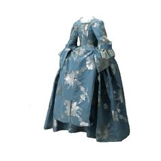 Mantua, 1740s ❤ liked on Polyvore featuring dresses, gowns, 1700's, costume and long dresses
