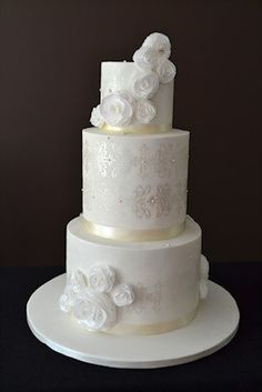 The Sugar Nursery's Wafer Paper Rose Wedding Cake